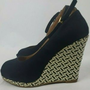 Mossimo Suede Wedge Espadrille Platform Shoes